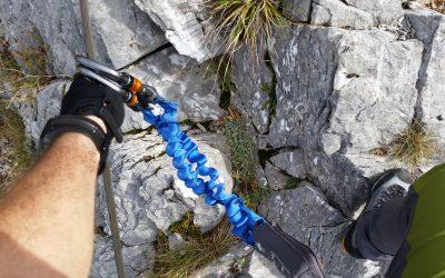Test attrezzatura ferrata, Alpi Apuane